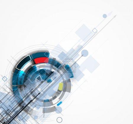 Photo pour Abstrait futuriste internet haute technologie informatique entreprise fond - image libre de droit