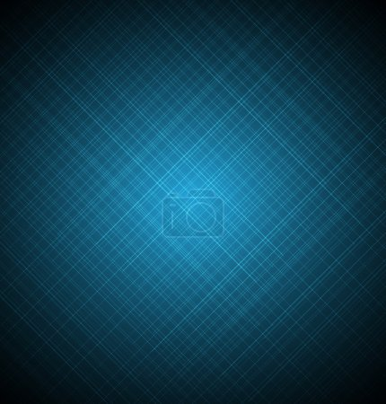 Illustration for Abstract blue shining blurred lines textured background - Royalty Free Image