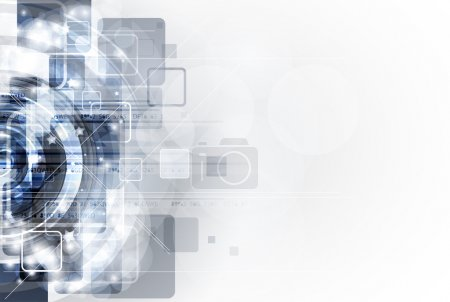 Abstract grey computer technology business banner background