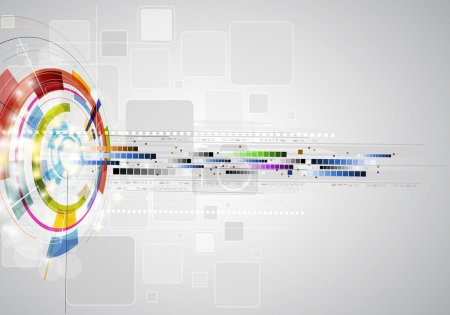 Photo for Abstract blur ray computer technology business banner background - Royalty Free Image