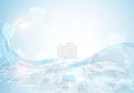 Illustration for Great light futuristic computer technology business background banner - Royalty Free Image