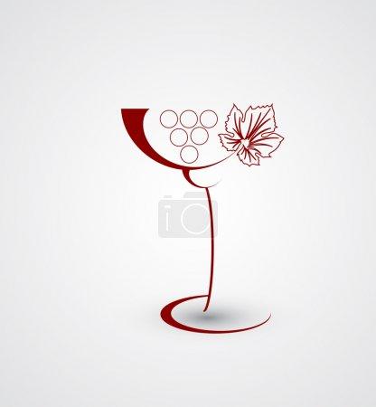 Illustration pour Carte de vin design avec fond en verre - image libre de droit