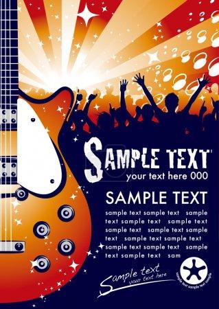 Illustration pour La facture de concert qui a été conçu - image libre de droit