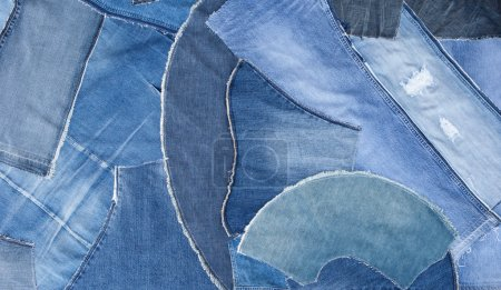Patchwork jeans background