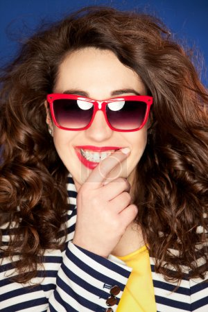 Attractive young woman in sunglasses