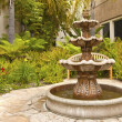 Small backyard fountain in a garden San Diego Cali...