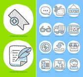 Hand drawn Businessoffice icon set
