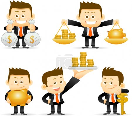 Illustration for Businessman set - Royalty Free Image
