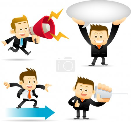 Businessman, communication set