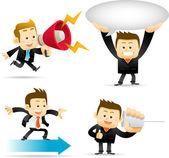 Businessman communication set