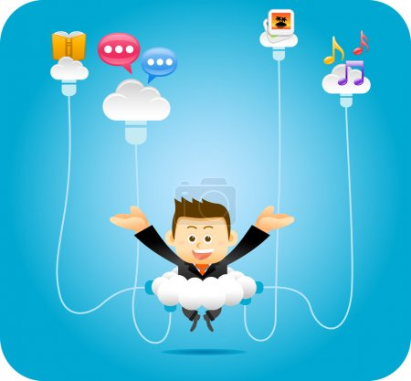 Illustration for Elegant People Series,Personal Cloud Concept - Royalty Free Image