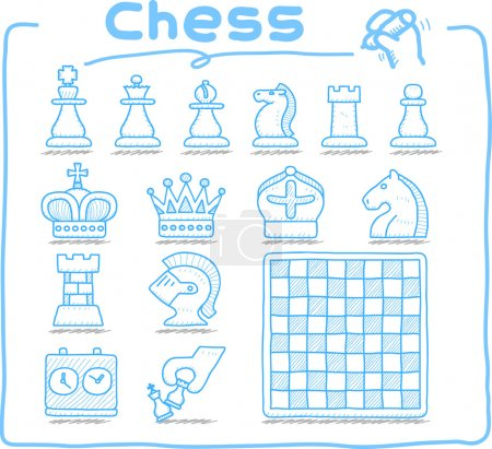 Hand drawn Chess icon set