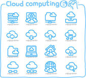 Pure series cloud computingcommunicationinternetbusinessnetwork icon set