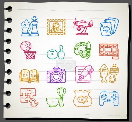 Hobby, Leisure and Holiday Icons