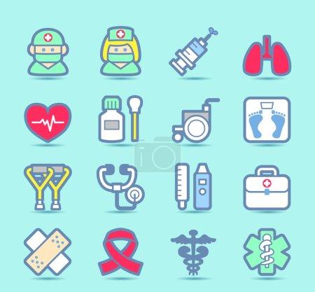Health care icons set