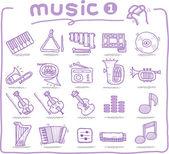 Hand drawn musical instrument