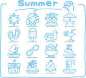 Summer  Season icon set