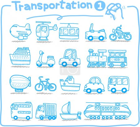 Hand drawn transportation icon