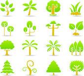 Hand draw tree icon set