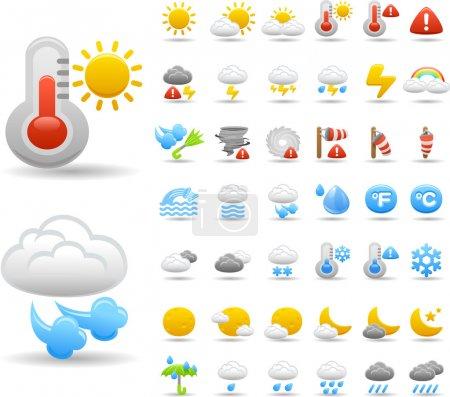 Illustration pour Icône météo ensemble - image libre de droit