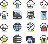 Businesscloud computingnetworkicon set