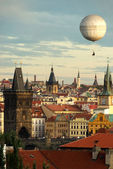 Prague oldtown with balloon