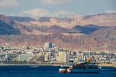 Seaside view of Eilat in Israel