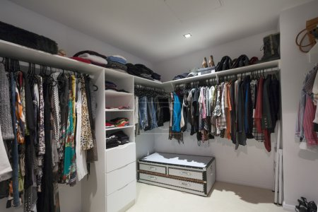 Photo for Walk in wardrobe in modern home - Royalty Free Image
