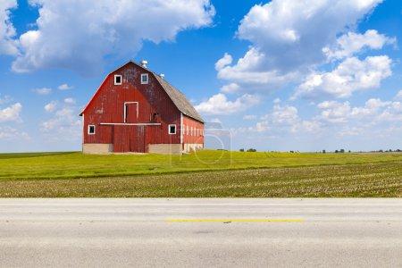 Photo pour Vue de côté de road country américain - image libre de droit