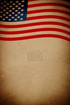 Photo pour Affiche Vintage Design Quatrième Juillet - image libre de droit
