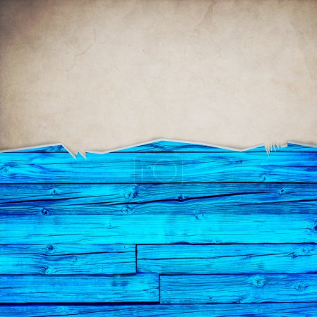 Photo for Riped old paper on grunge wall background - Royalty Free Image