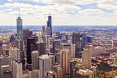 Top View On Chicago Downtown Office Buildings