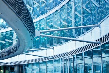 Photo pour Architecture moderne banque bureau financier cercle bâtiment - image libre de droit
