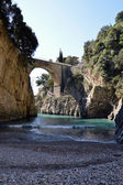 The Fjord and the village of Furore on the Amalfi Coast - Campan