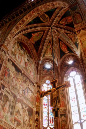 The frescoes in the Church of Santa Croce in Florence-Tuscany-It