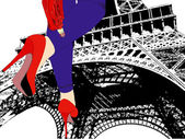 Walking in Paris - A woman with very sexy shoes walks in Paris