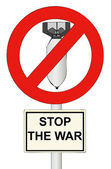 Stop the War - A sign symbol to stop the war in the world