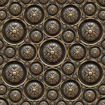 Photo for Texture of drawer of a beautiful carved floral work - Royalty Free Image