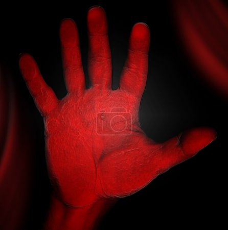 Horror - rote Hand