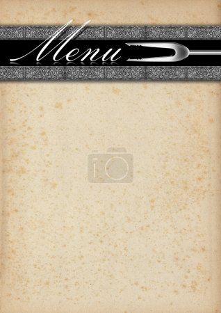 Menu Template - Old Paper and Silver