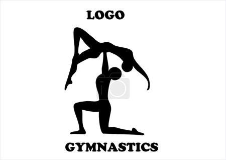 A vector of acrobatic gymnastics