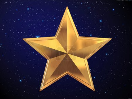 Gold silver star...