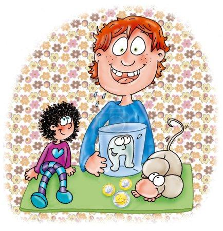 Photo pour Enfants et animaux domestiques, dessins, enfants, illustrations, édition, livres, contes de fées , - image libre de droit