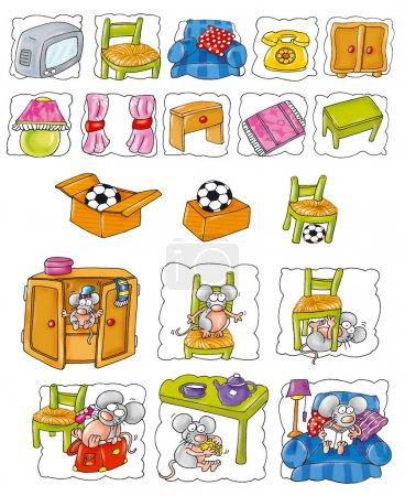 Photo pour Illustration, digital,, enfants, dragon, haut, animal icône, bande, bande dessinée, drôle, doux, mâle, femelle mascotte, sujet, petite enfance, livres, jeu, image, préscolaire de l'industrie, ed - image libre de droit