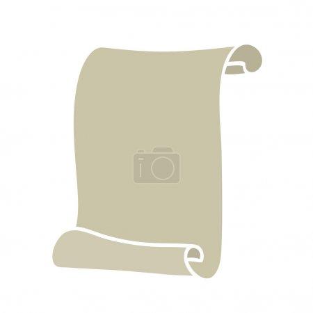 Illustration pour Icône de rouleau de papier vide. Art vectoriel - image libre de droit