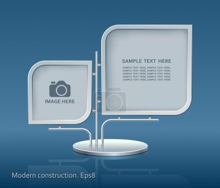 Illustration for Modern construction, vector, design - Royalty Free Image