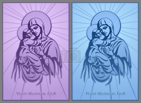 Blessed Virgin Mary, Jesus Christ, blessing, Christianity