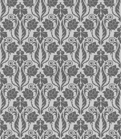 Seamless wallpaper pattern, ornament, vector