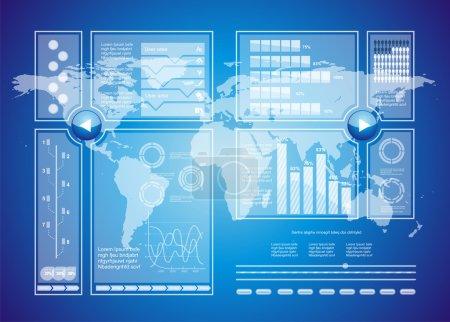 Illustration pour Contexte de technologie virtuelle moderne - image libre de droit