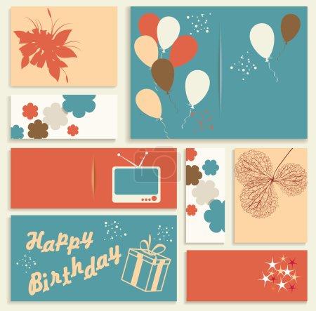 Illustration pour Illustration pour carte d'anniversaire. Vecteur. - image libre de droit